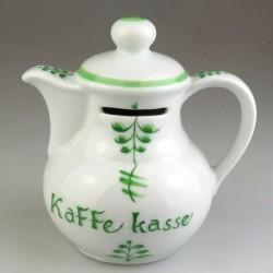 Kaffekasse - sparebøsse i håndmalet porcelæn med Nostalgi-mønster