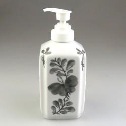 Dispenser til opvaskemiddel i håndmalet porcelæn med dekoration Sommerfugl
