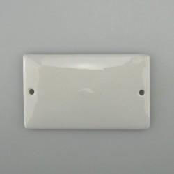 Lille firkantet skilt i håndmalet porcelæn 8 x 4,8 cm