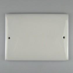 16 x 12 cm - Firkantet dørskilt / husskilt / navneskilt i porcelæn