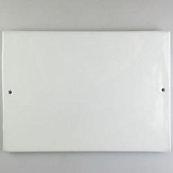 26 x 18 cm - Stort firkantet dørskilt / navneskilt i porcelæn