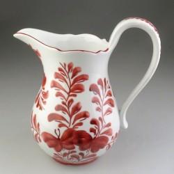 Porcelænskande - 7 dl - med håndmalet Sommerfuglemotiv