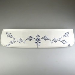 Badeværelseshylde i håndmalet porcelæn med Nostalgi-dekoration