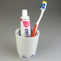 Krus til tandbørsten - med græsdekoration (Model K)