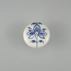 Nostalgi - Blomst A håndmalet på porcelænsknop / procelænsgreb / knage af porcelæn