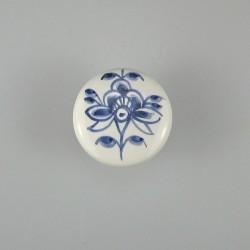 Nostalgi - Blomst B håndmalet dekoration på porcelænsknopper / keramikgreb