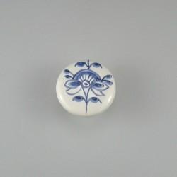 Nostalgi - Blomst C håndmalet dekoration på porcelænsknop / porcelænsgreb