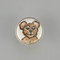 Knage / knop med bamse som motiv til børneværelset og badeværelset