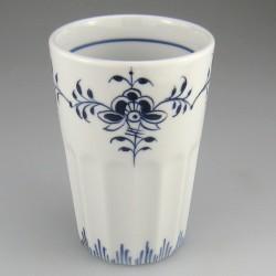 Stort tandkrus i porcelæn med håndmalet dekoration Nostalgi (model D)