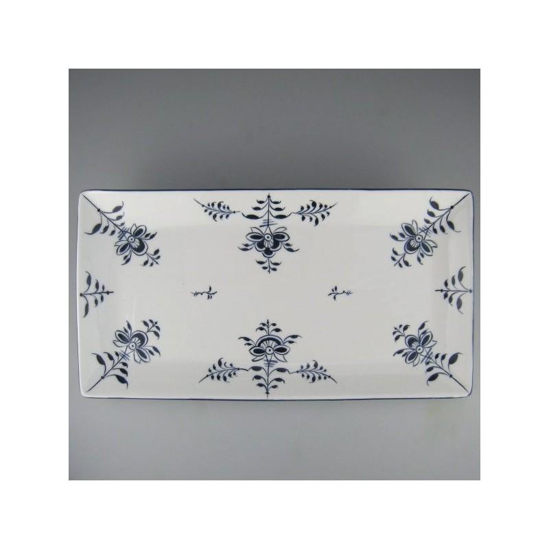 31 x 16 cm - Serveringsfad / sushi tallerken i håndmalet porcelæn med Nostalgi-motiv