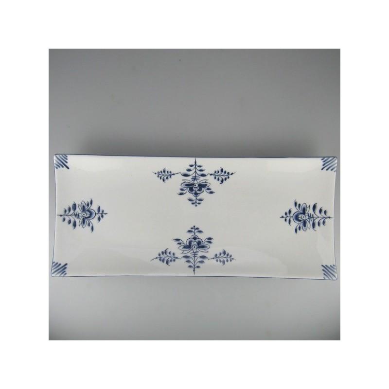 36 x 15 - Sushi tallerken / pålægsfad (A) i håndmalet porcelæn med motiv Nostalgi