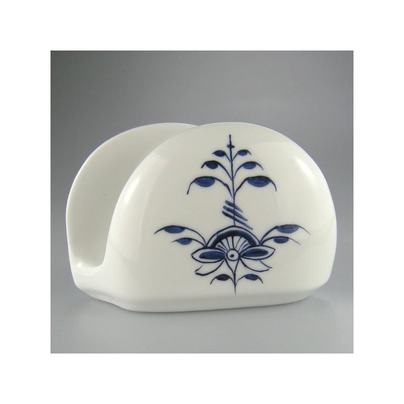 Servietholder i porcelæn med håndmalet dekoration Nostalgi