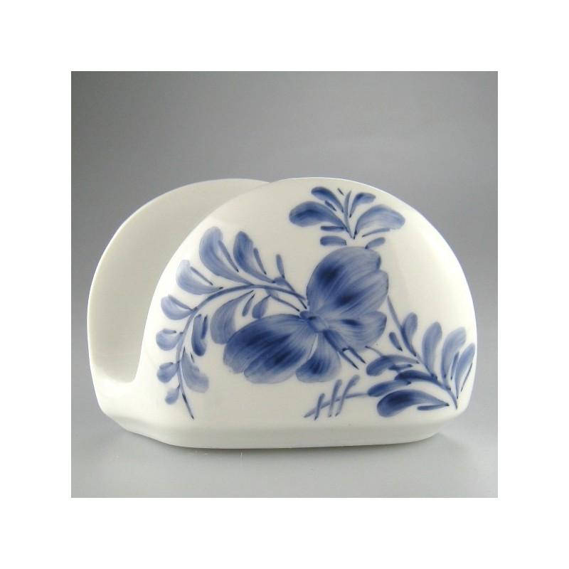 Servietholder i porcelæn med håndmalet dekoration Sommerfugl