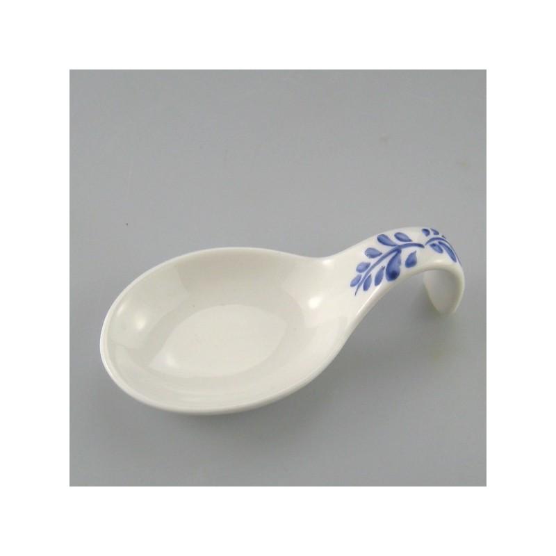 Tapas ske i håndmalet porcelæn med dekoration Sommerfugl - kvist