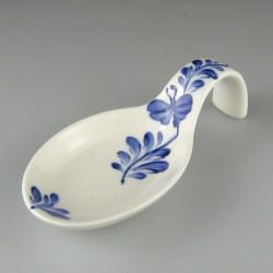 Ske til servering af tapas og appetizers i håndmalet porcelæn med dekoration Sommerfugl
