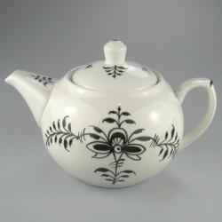 Sort Nostalgi dekoration på håndmalet tekande i porcelæn