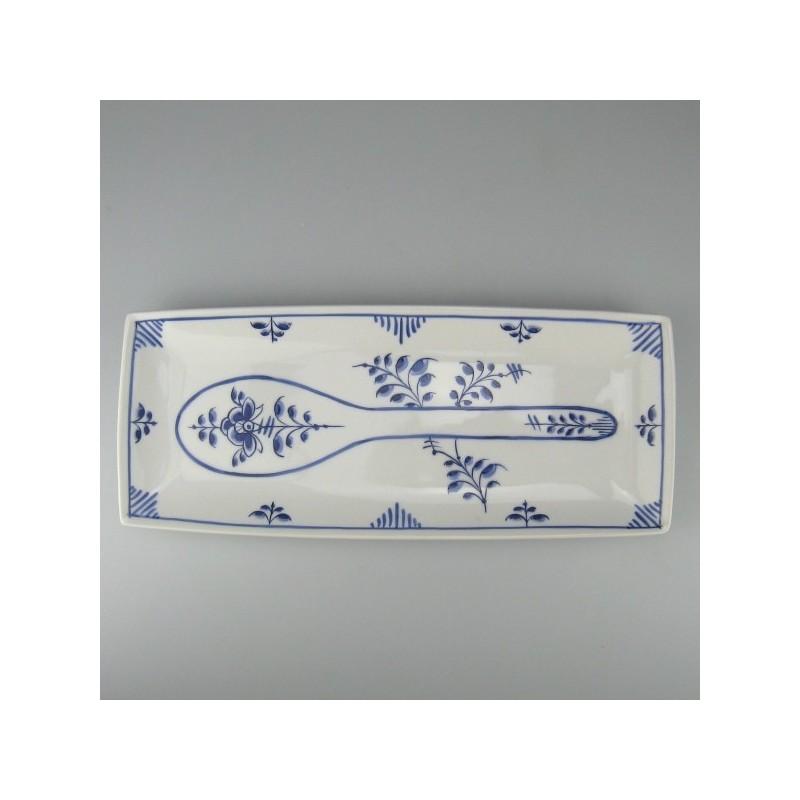 Holder af porcelæn til grydeske med håndmalet dekoration blå Nostalgi