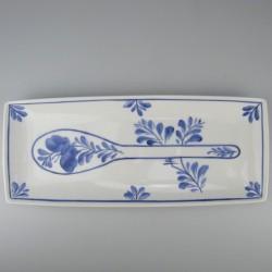 Holder til køkkenredskaber i håndmalet porcelæn med dekoration blå Sommerfugl