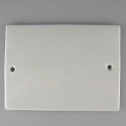 12 x 9 cm - Firkantet husnummer skilt / navneskilt i porcelæn