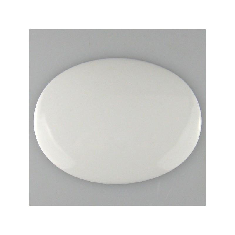 9,5 x 7,3 cm - Lille ovalt skilt UDEN skruehuller med navn