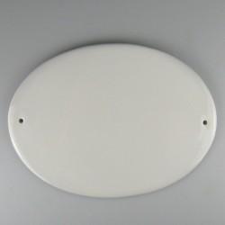 Ovalt skilt til dør i porcelæn