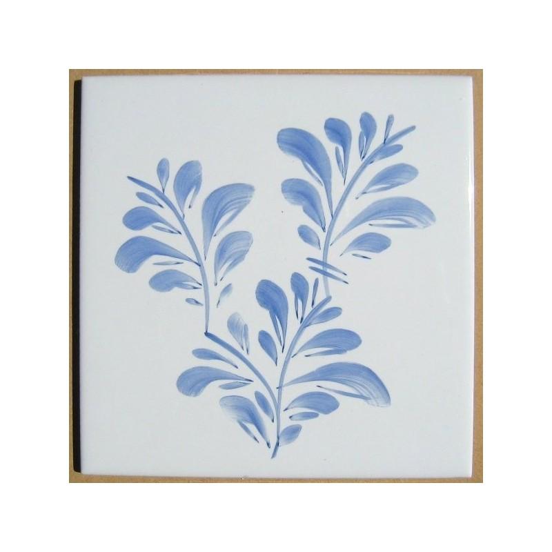 Sommerfugl - blade - dekoration på enkeltflise