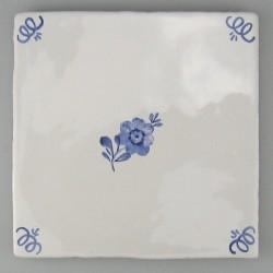 Primula blomst - håndmalet flise / kakkel