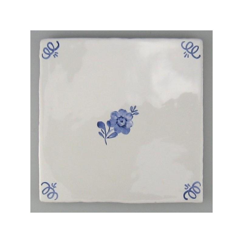 Blomst - Primula - håndmalet flise / kakkel